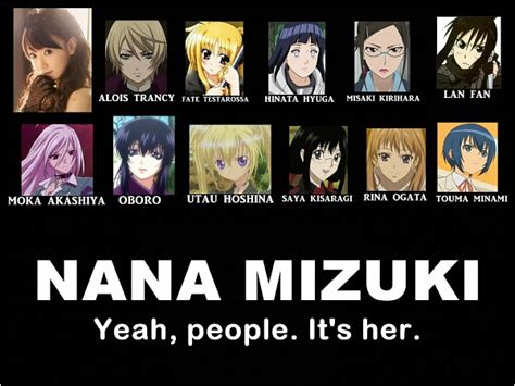 Anime Voice Actors by Voice Actor Nana Mizuki Anime Photo 23967061 Fanpop