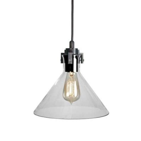 Home Depot Pendant Lights by Home Decorators Collection 1 Light Clear Glass Ceiling