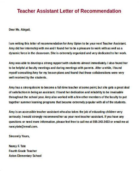 Parent Letter About Your Child Sle Letters Of Recommendation For A 9 Exles In Word Pdf