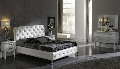 Bedroom Furniture Black And White Made In Spain Leather Luxury Modern Furniture Set With Tufted Upholstery Bed Lubbock Esfnelly