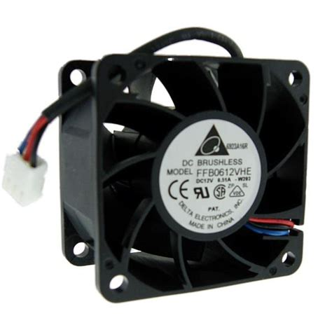12 volt cooling fan delta 60mm 12 volt dc 6000 rpm cooling fan ffb0612vhe