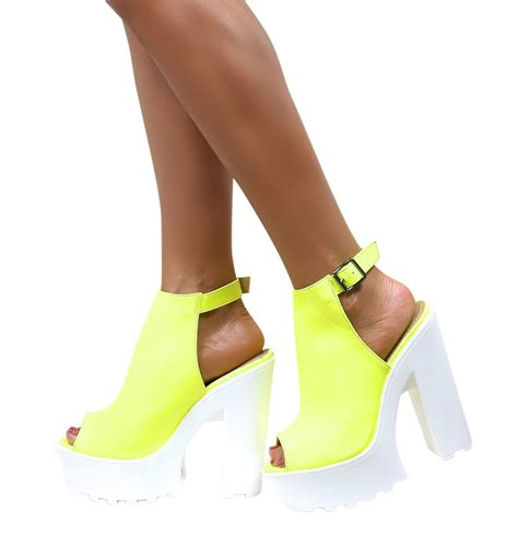 shoes with heels womens cleated sole chunky heels block platform