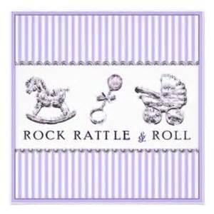 rock 5x7 rocker baby shower invitation
