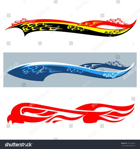 3d Sticker Vector by Car Stickers Flame Stock Vector 150750593 Shutterstock