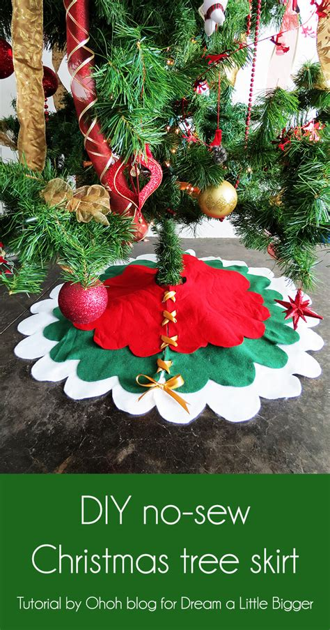 How To Make A Tree Skirt - how to make a no sew tree skirt a