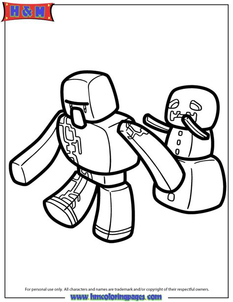minecraft coloring pages iron golem free coloring pages of minecraft iron golem