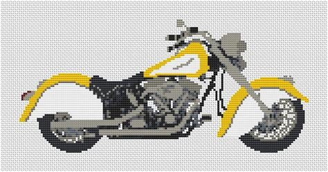 Indian Chief 1999 Motorcycle Cross stitch Kit and Chart