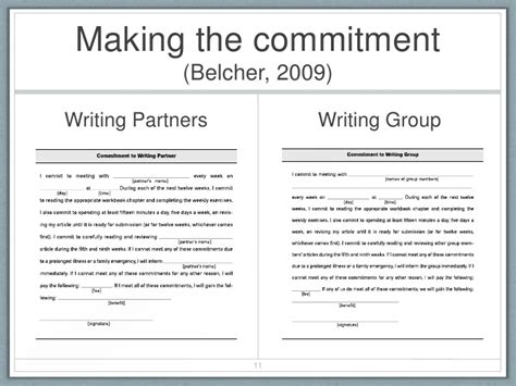 Commitment Letter For Not Being Late Breaking The Article Writing Process For New Academics