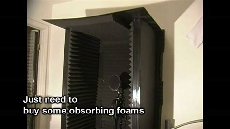 how to make a vocal booth in a bedroom homemade vocal booth youtube