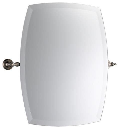 brushed nickel wall mirror bathroom brizo 698085 bn charlotte series wall mounted mirror