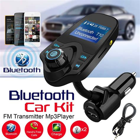 Bluetooth Car Kit H7 Led Fm Transmitter Bt 20 Dual Berkualitas free bluetooth car kit mp3 player fm transmitter 5v 2 1a usb car charger 1 44 quot led