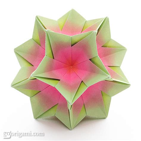 Origami Kusudama - kusudama origami gallery go origami