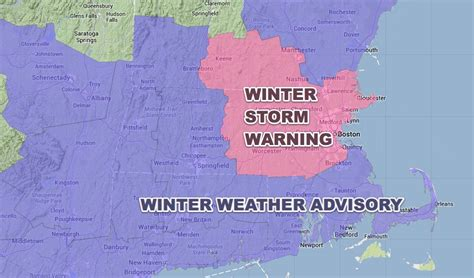 winter storm warning and winter weather advisory in effect until nws upgrades part of massachusetts to winter storm warning