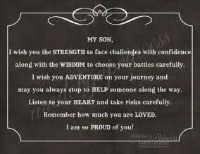 Inspirational Quotes For Sons Birthday From My Son I Wish You Strength Wisdom Adventure Strong