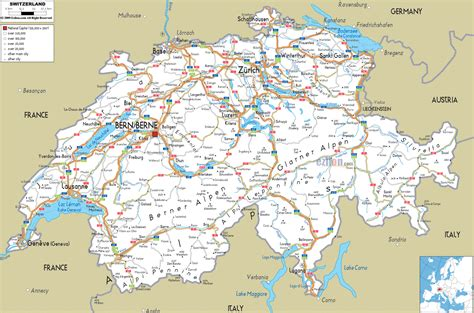 map of switzerland cities large detailed road map of switzerland with all cities and