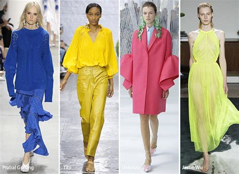 2017 color trend fashion new york fashion week spring 2017 fashion trends