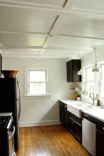 Premade Coffered Ceiling by Rehab Diaries Diy Beadboard Ceilings Before And After