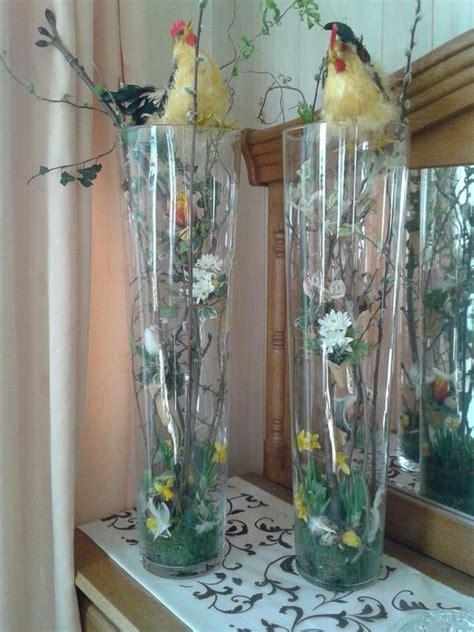 Decoratie In Hoge Glazen Vaas by Paasstuk In Hoge Vaas Decoratie