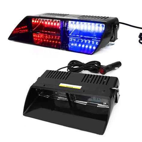 led emergency dash lights 16 led red blue car police strobe flash light dash