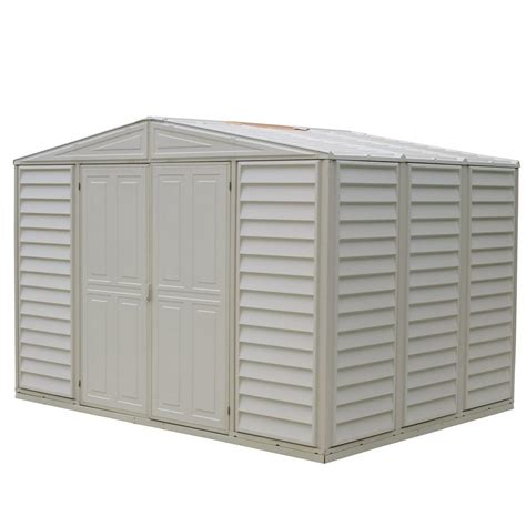 vision 9 5 ft x 8 ft vinyl storage shed lowe s canada duramax building products woodbridge 10 5 ft x 7 9 ft