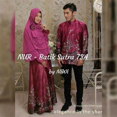 Cauple Batik Adreena Muslim Syari gamis pesta syar i batik baju pesta batik