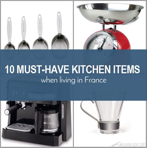 Kitchen Items 10 10 Must Kitchen Items When Living In Grenobloise