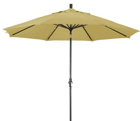 Overstock Patio Umbrellas Alluminum 11 Ft Wheat Patio Umbrella With Sunbrella 13821429 Overstock Shopping Big