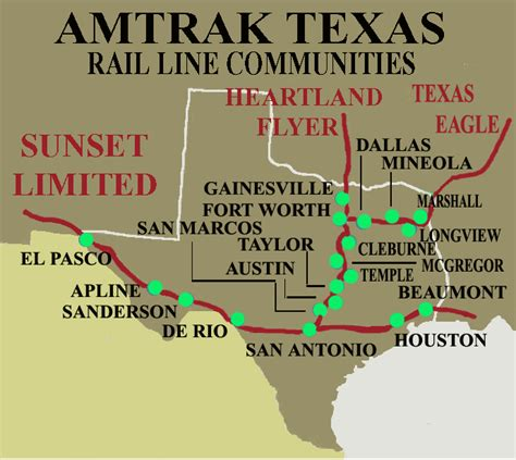 amtrak texas map amtrak routes in texas