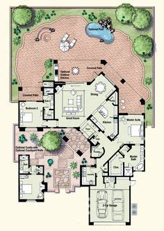 house plans with guest wing custom home floor plans on pinterest unique floor plans