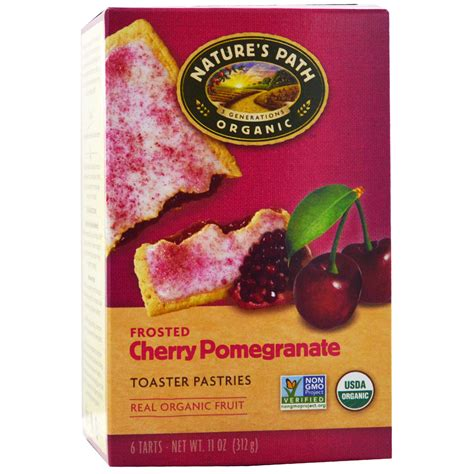 Natures Path Toaster Pastries nature s path organic frosted toaster pastries cherry pomegranate 6 52 g each iherb