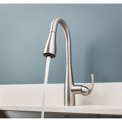 moen pull down kitchen faucet moen 87014srs essie spot resist stainless pullout spray