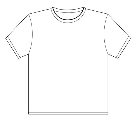 printable blank tshirt template slot distribution