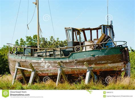 old fishing boat cabin old fishing boat stock photo image of broken disused