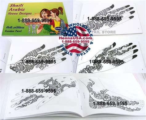 henna design book arabic temporary henna tattoo design book for hand feet