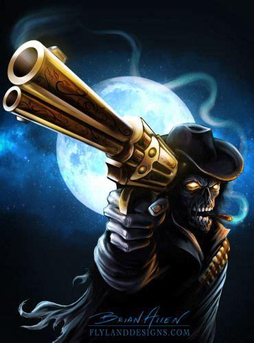 invision artworks undead gunslinger grim reaper art