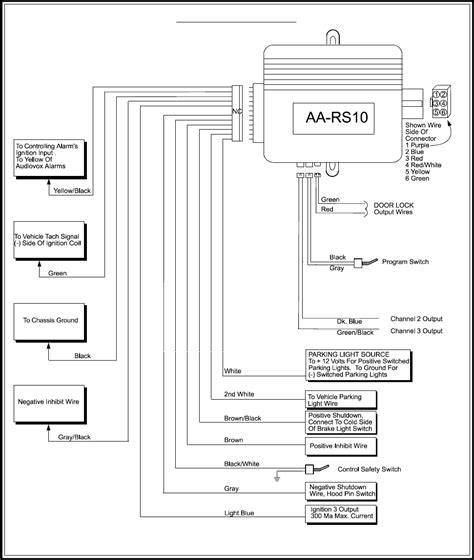 audiovox alarm wiring diagram remote start wiring diagrams