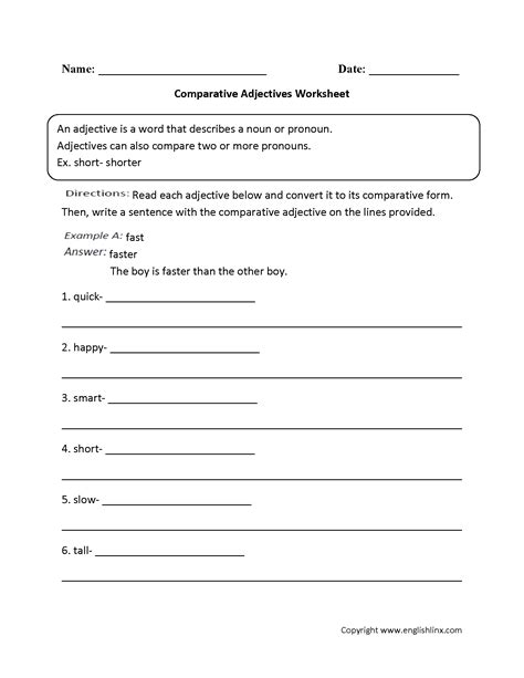 Adjective Worksheets 4th Grade by Parts Speech Worksheets Adjective Worksheets