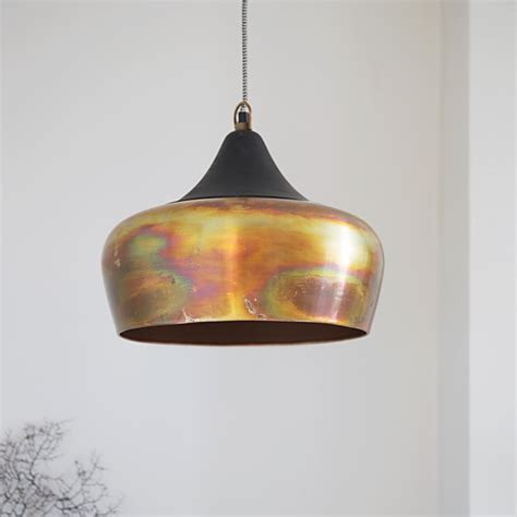 alhambra contemporary ceiling light in burnished copper