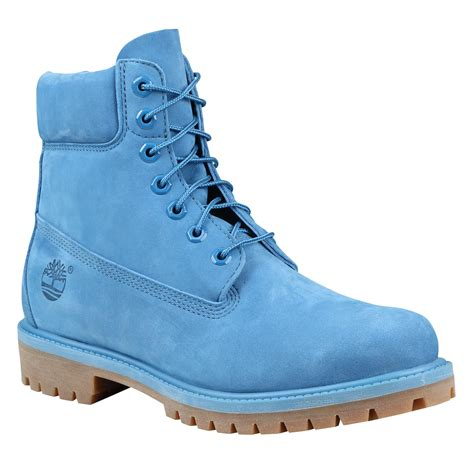 timberland boots blue mens s 6 quot premium waterproof boots in blue monochrome