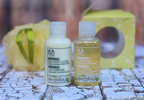 Moringa Shower Gel 60ml The Shop the shop moringa shower gel and moringa milk lotion
