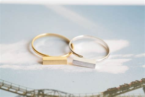 stick bar ring jewelry ring adjustable ring stretch ring