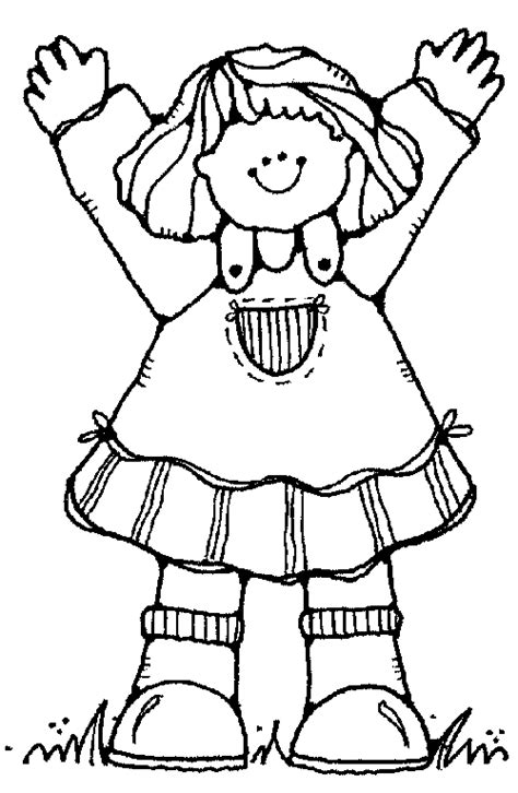 coloring page of little girl little girl coloring pages for kids sketch coloring page
