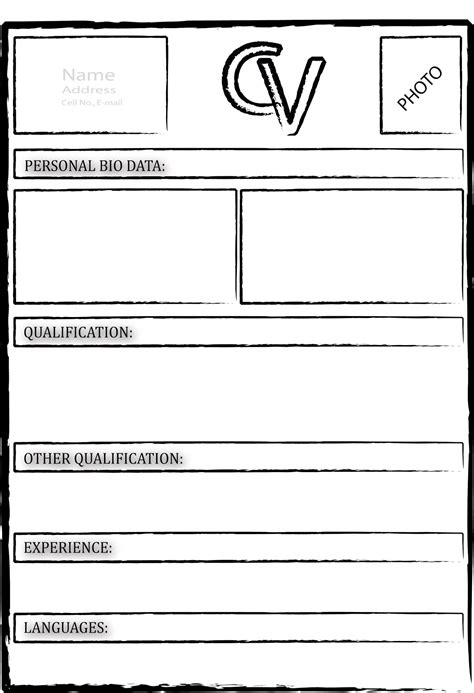 cv blank template cv formats notes black cv formats cv ms word cv