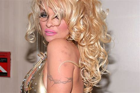 pamela anderson tattoo 50 celebrity tattoos livingly