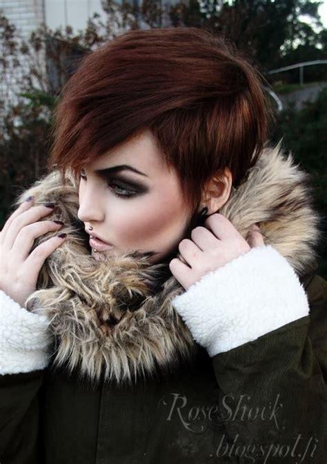 edgy urban cool hair on pinterest 86 pins dark smokey eye thick eyebrows short hair everything