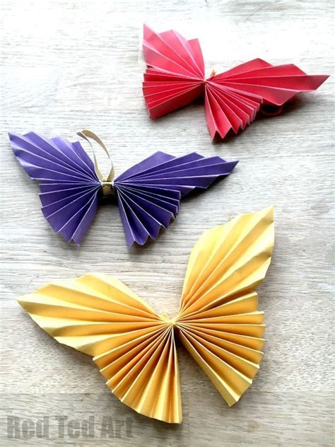 Simple Origami Decorations - easy paper butterfly frame decoration origami butterfly