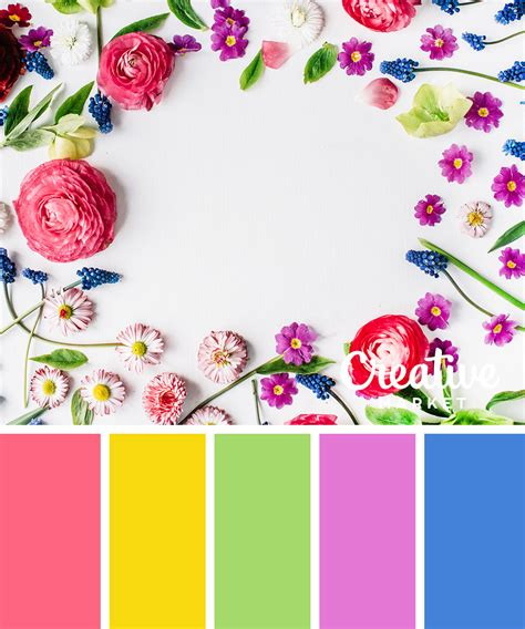 spring colors 15 fresh color palettes for spring creative market blog