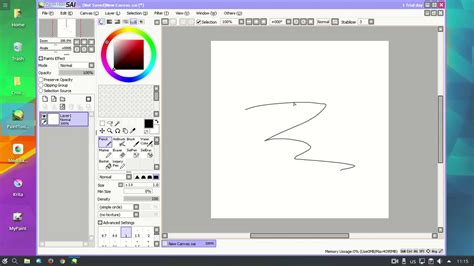 Paint Tool Sai 1 2 5 Worked On Wine 1 9 2 0 Rc1 In Kde