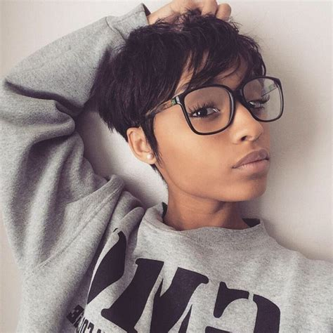 pixie cut of blackwomen on instagram mixed girl short hairstyles fade haircut