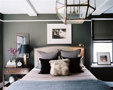 grey wallpaper masculine dark and surprisingly soothing bedroom walls